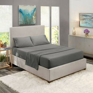 Charcoal Egyptian Comfort Bed Sheets 4 Piece!